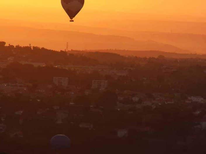 Montgolfières au dessus d'Annonay
