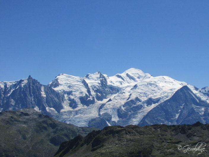 Le Mont-Blanc et ses sommets