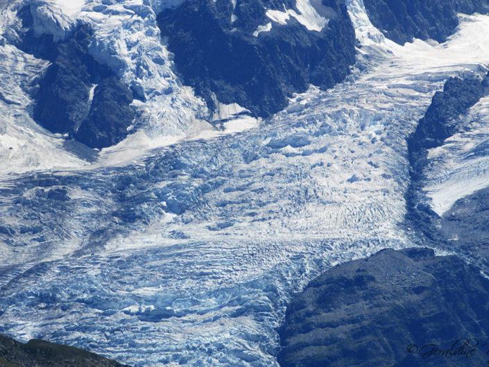 Glacier sous le Mont-Blanc