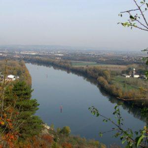 Vue du Rhône depuis la Colline du Châtelet