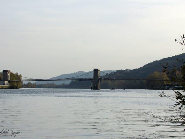 "Pont suspendu (dit pont ""Fil de Fer"") de Marc Seguin"