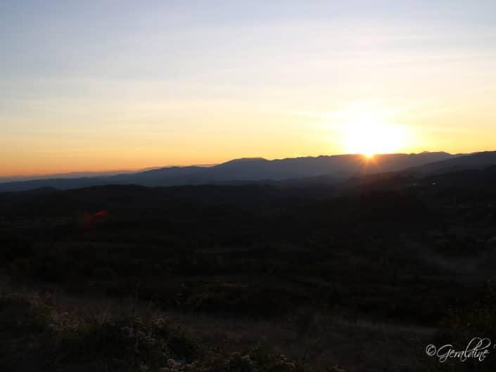 Coucher de soleil depuis l'Escrinet