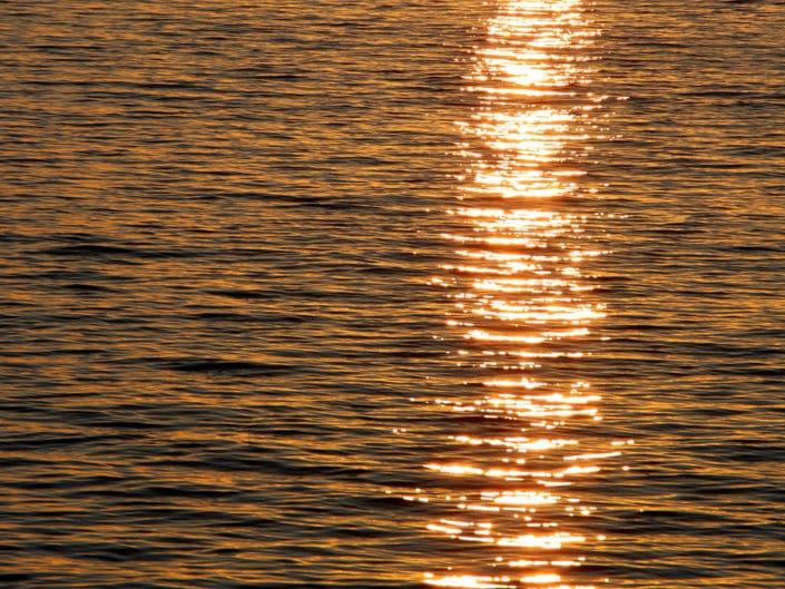 Rayon lumineux sur la mer