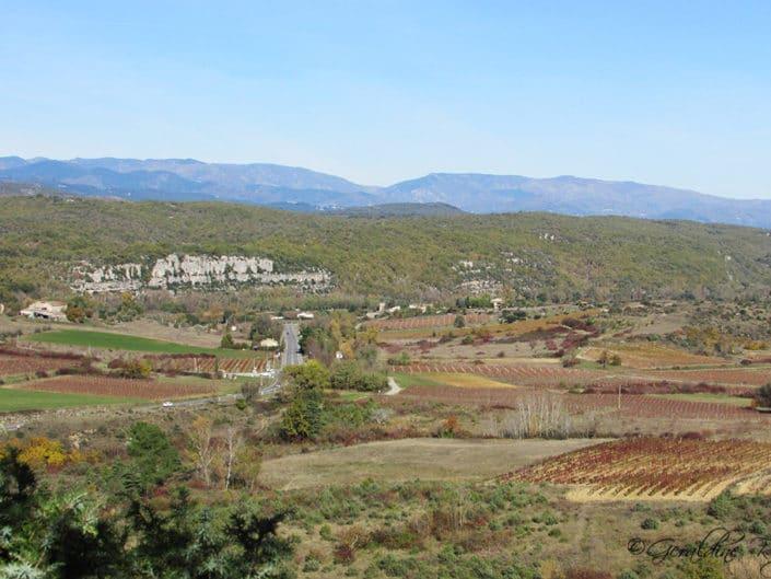 Paysage route de Balazuc à Ruoms