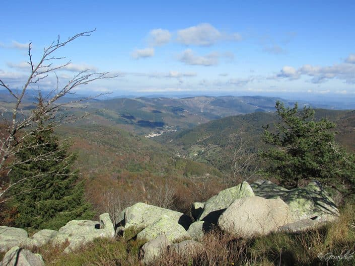 Vue autour du Mont Gerbier De Joncs