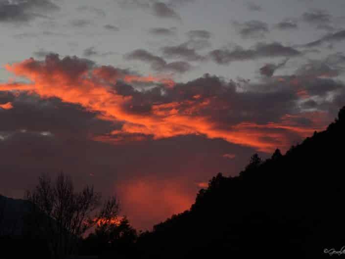 Coucher de soleil à Luz Saint Sauveur
