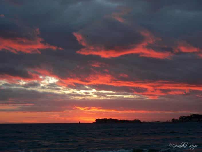 Un coucher de soleil à Bandol