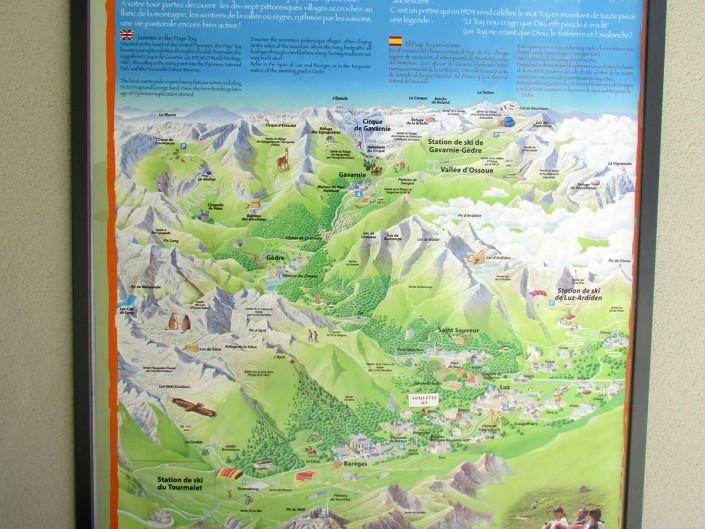 panneau randonnées pyrenees