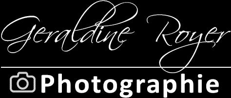 Logo Géraldine Royer Photgraphie noir et blanc