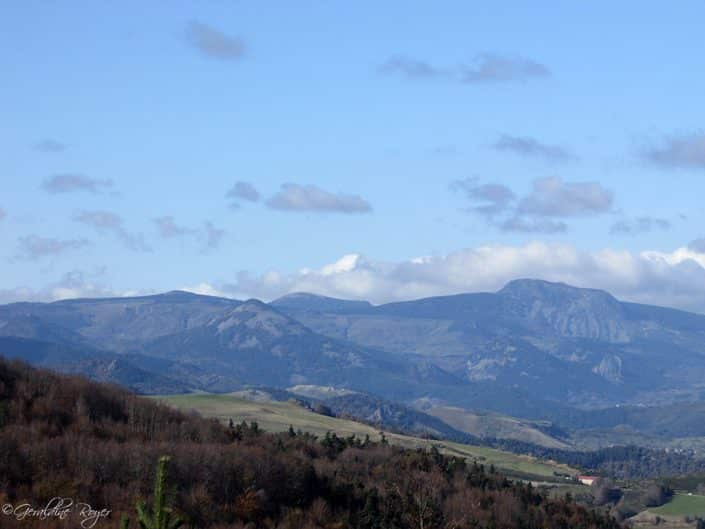 Vue sur le Mont Mézenc