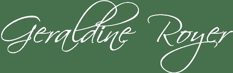 Signature Géraldine Royer Blanche