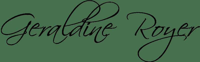 Signature Géraldine Royer Noire