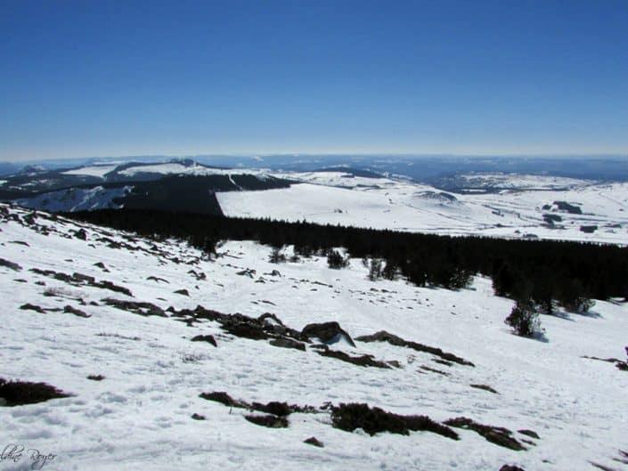 Diaporama au sommet du Mézenc sous la neige...