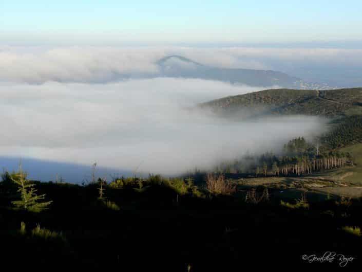 Vallée Ardéchoise brumeuse