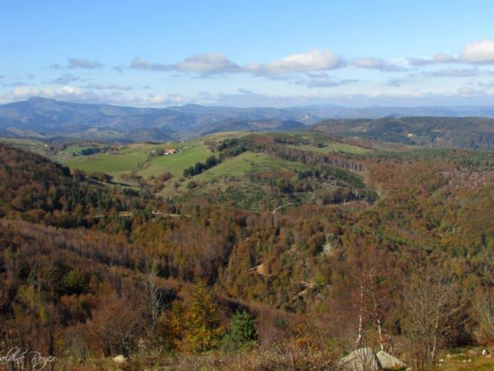 Vue éloignée du Mont Mézenc